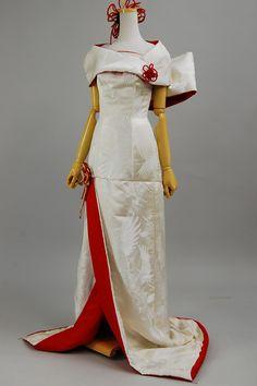 Japanese re-designed kimono wedding dress