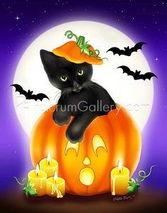 Autumn Cat Magic Melissa Dawn Украшения на хэллоуин