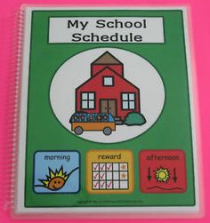 MY SCHOOL SCHEDULE BOOK w/192 PECS Autism ABA Speech