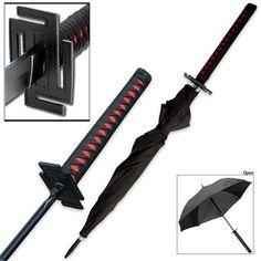 I found ' Ichigo Tensa Bankai Japanese Anime Manga Umbrella ' on Wish, I want one! Survival Rifle, Samurai Swords Katana, Ninja Sword, Cool Swords, Swords And Daggers, Weapon Concept Art, Bleach Anime, Japanese, Outdoors