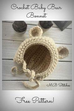 47efa7c45e60 36 Best Baby Bonnet Pattern images