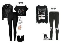 """""""Twenty One Pilots Couple"""" by hanakdudley ❤ liked on Polyvore featuring Topman, IRO, Dr. Martens, The Row, Ray-Ban and NARS Cosmetics"""