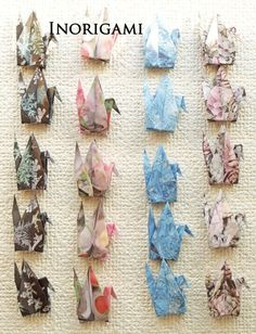 1000 Origami 3 Cranes  Senbazuru / 4 crystal designs by Inorigami
