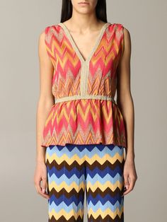 Shop M Missoni Top Top Women M Missoni and save up to EXPRESS international shipping! Orange Tops, M Missoni, Kazakhstan, Metallica, Rompers, Top Top, Clothes, Collection, Women