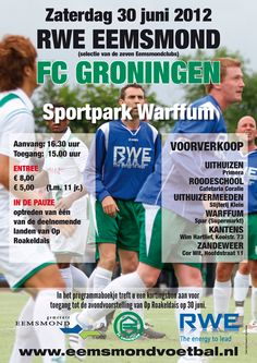 A poster designed by me for the soccergame RWE Eemsmond - FC Groningen. The picture was made by Jan Huizinga