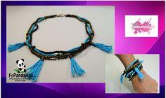 DIY. Tuto 20. Collier/bracelet bronze et turquoise. Fr-Pandahall.com