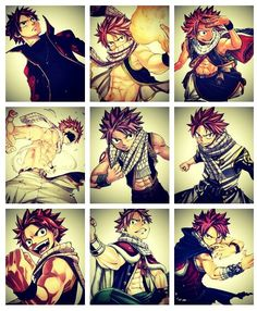 NATSU!!!!!!! Fairy Tail # Multiple Natsus # I'm happy now