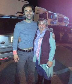Nice and happy photo from Catherine Molden with Aidan after location shooting in Charlestown on Saturday... Aren't all very jealous? What a lovely photo to have. #Poldark #AidanTurner ––India Rose