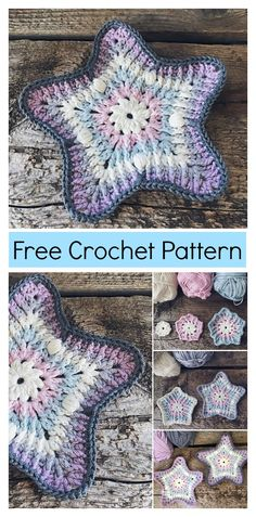 Sea Star Coaster Free Crochet Pattern #freecrochetpatterns