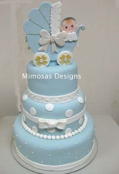Baby in the Carriage Cake Idea