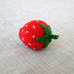 Crochet Amigurumi Strawberry Crohet Play Food by MariaKonstantin on Etsy