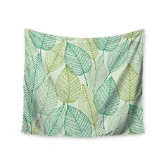 51 X 60 Kess InHouse Pom Graphic Design Ocean Retro Vibes Green Teal Wall Tapestry