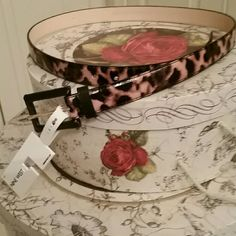 HPNWT Nine West Belt Oh so chic NWT Nine West leapord print belt. Size large. Perfect with a dress or to fancy up your favorite jeans. Nine West Accessories Belts
