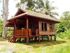 Precious Tips for Outdoor Gardens - Modern Bamboo House Design, Simple House Design, Bungalow House Design, Tiny House Design, Hut House, Tiny House Cabin, Small House Plans, Small Wooden House, House On Stilts