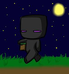 Minecraft drawing: chibi Enderman by Jojoful7.deviantart.com on @deviantART