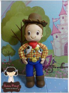 Topo de Bolo festa do Toy Story - Woody personalizado com base acrilica