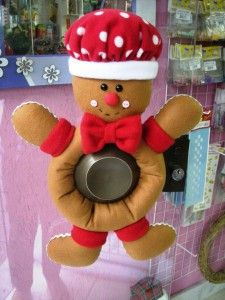 Gingerbread para decorar a porta no Natal
