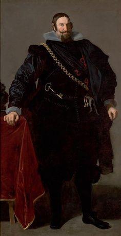 """Diego Velazquez: """"Portrait of the Count Duke of Olivares"""",1624.( São Paulo Museum of Art, São Paulo, Brazil.) http://masp.art.br/masp2010/"""