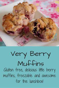 Very berry muffins- gluten free