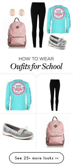 """School day"" by popcornlover1555 on Polyvore featuring Sperry Top-Sider, Max Studio and Kenneth Jay Lane"