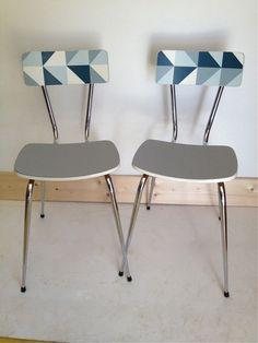 Mesita y sillas de formica customizadas muebles for Chaise formica