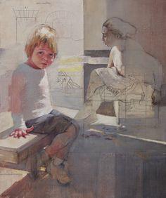 "Saatchi Art Artist: Pilar Lopez Baez; Acrylic 2014 Painting ""El espacio falso"""