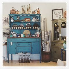 Our store display - get the farmhouse look #mmsmilkpaint #flowblue