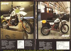 1982 Vintage KTM Motorcycle Brochure & Poster