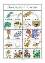 Woordenblad Dinosauriërs