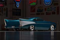 "1957 CHEVROLET BEL AIR ""CHEZOOM"" CUSTOM - Barrett-Jackson Auction Company - World's Greatest Collector Car Auctions Chevrolet Bel Air, 57 Chevy Bel Air, Custom Muscle Cars, Chevy Muscle Cars, Custom Cars, Barrett Jackson Auction, Hot Rod Trucks, Hot Cars, Concept Cars"