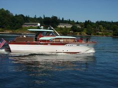 1956 54' chris craft constellation.  Sistership, Golden Girl was home on SFBay for nearly 2 years.