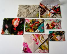 Handmade Colorful Whimsical Envelopes (Ideas from the Forest)