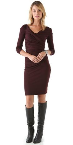 Boots with a sweater dress