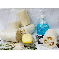3pcs New Hot Natural Bath Accessories Body Shower Loofah Towel Wipe Pot Scrub Sponge For Body Wash Clean Travel Portable