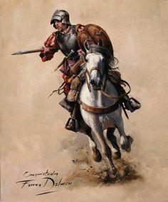 Conquistador a caballo