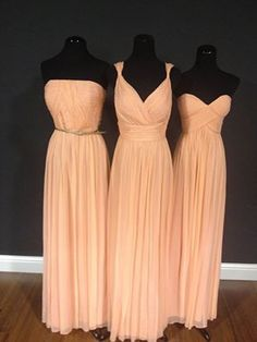 Not this color, but I like the idea of different styles of long, flowy dresses. The bridal party would look so elegant and majestic, plus they wouldn't be as cold. Can think about long vs. Shorter dresses are more practical. Bridesmaid Flowers, Wedding Bridesmaids, Bridesmaid Dresses, Designer Wedding Gowns, Wedding Dress Shopping, Wedding Inspiration, Wedding Ideas, Wedding Stuff, Dream Wedding