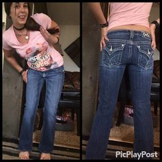 Miss Me Blue Jeans💙 Perfect condition blue jeans. Size 27 and the inseam is 27.5 boot cut. Miss Me Jeans Boot Cut