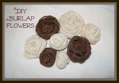 Easy DIY burlap flowers You are in the right place about DIY Fabric Flowers template Here we offer you the most beautiful pictures about the DIY Fabric Flowers easy you are looking for. Burlap Lace, Burlap Flowers, Burlap Bows, Diy Flowers, Fabric Flowers, Material Flowers, Burlap Wreaths, Hessian, Pretty Flowers
