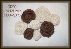 Easy DIY Burlap Flowers  canarystreetcrafts.com