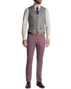 Check waistcoat - BREAMWA by Ted Baker