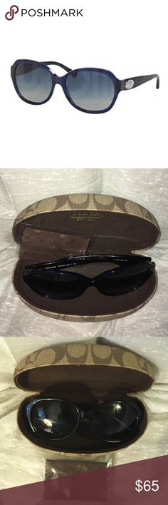 Coach W-SG-3130 HC8150 51104L-Navy Coach W-SG-3130 Coach W-SG-3130 HC8150 51104L-Navy Womens-some scratches on lens otherwise new comes with cleaning cloth and case Coach Accessories Sunglasses