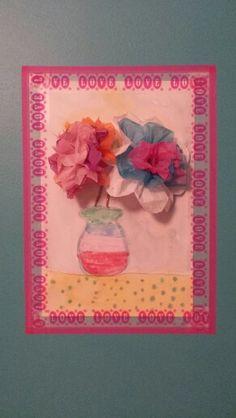 Jarrón con flores, #aquarel.la escola d'art