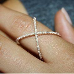 Crystal X ring! Shop www.Chichime.com