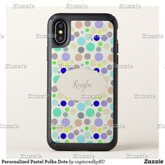 Personalized Pastel Polka Dots Speck iPhone X Case  #iphonecase #iPhonex #personalized