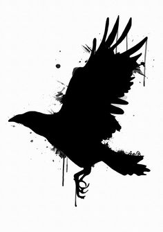 Designs For Garden Flower Beds Crow. By Me, Ina Bjorkstedt. Norse Tattoo, Raven Tattoo, Viking Tattoos, Tattoo Drawings, Body Art Tattoos, Art Drawings, Ear Tattoos, Crow Art, Raven Art