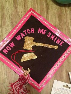 If you're heading to law school come August and you want to let everyone know when you walk across the stage at graduati. Grad Cap, Graduation Caps, College Graduation, Graduation Ideas, Graduation 2015, Graduation Quotes, Graduation Announcements, Graduation Invitations, Graduation Cap Designs