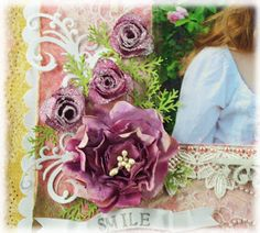 """Couture Creations Sweet Smile by Sue Smyth Wednesday 24th July 2013. How to make """"Sugared"""" Roses"""