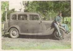Grandpa Everett and his car