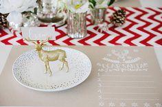 Glitter Reindeer Place Cards