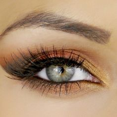 copper eye look #makeup